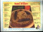 Placemat-Sweet William Restraunt Breakfasts